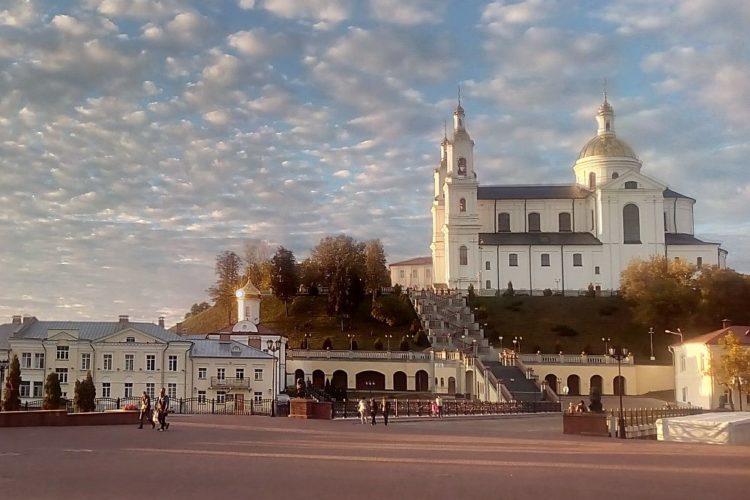 Вид на Успенскую горку в Витебске
