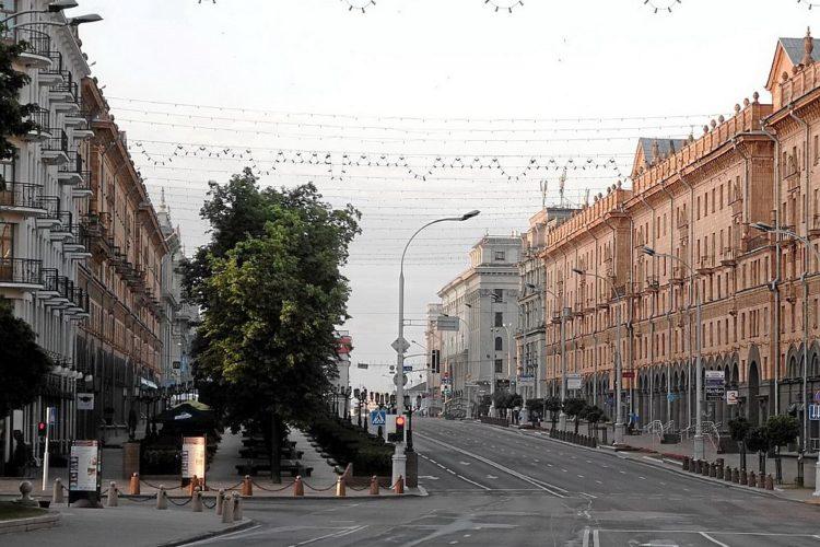 Вид от пл. Свободы в Минске