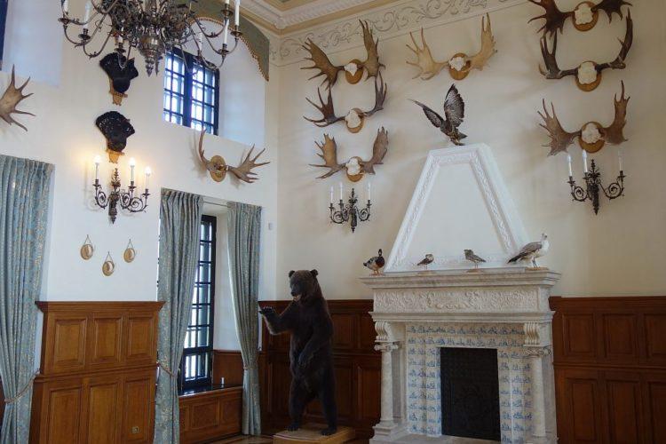 Охотничий зал в Несвижском замке