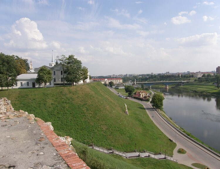 вид на Новый замок в Гродно